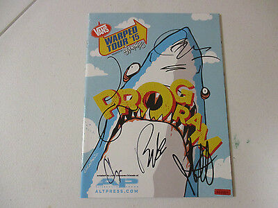 Drama Club Autographed Signed Warped Program With Signing Picture Proof Rock & Pop Autographs-original