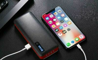 20000mAh Power Bank Leather Pattern 3 USB Battery Charger Apple iPhone Samsung