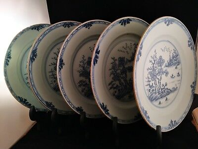 5x China Porzellan Teller chinese porcelain plate Qing-dynastie periode 18 Jh.