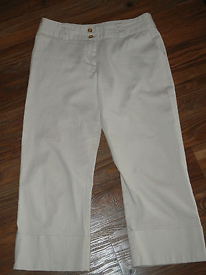 White House Black Market ~Capris Cropped~ Cream Pants Sz 8