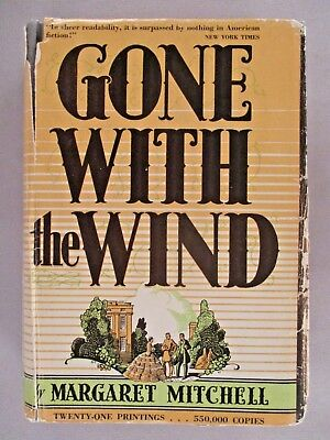 Gone With The Wind - Margaret Mitchell - 1936 1st Edition October Printing ~ dj