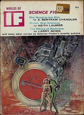 Rare Vintage Worlds Of If April 1967 Vol 17, No 4 Issue 113 Science Fiction Book