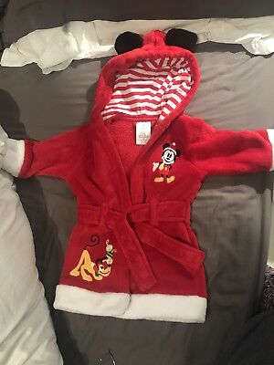 Red Disney Mickey Mouse Dressing Gown/ house coat, Childrens, 9 - 12 Months