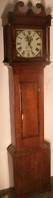 "Antique Slim  Oak Case  "" Philp ""  Longcase / Grandfather  Clock"