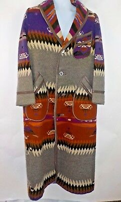 Antique Jacobs Oregon City Wool Indian Trade Blanket Robe Bathrobe Large