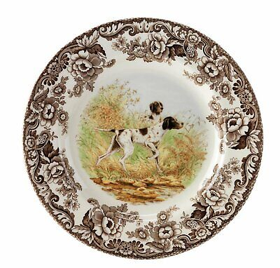 Spode Woodland Hunting Dogs Dinner Plate (Pointer)