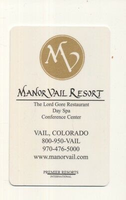 MANOR VAIL RESORT----Vail,CO-----Room key--K-99