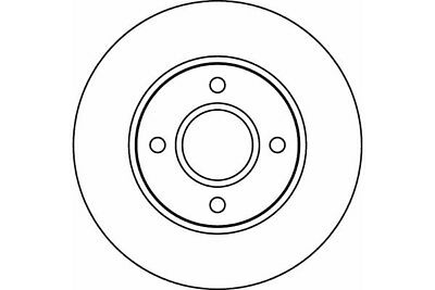 FOR FORD FOCUS MK1 98-04 FRONT BRAKE DISCS ROTORS 258mm DIAMETER MEYLE GERMANY