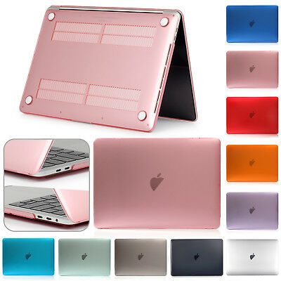"""For Apple MacBook Air Pro Retina 13"""" 15"""" Luxury Rubberized Clear Hard Case Cover"""