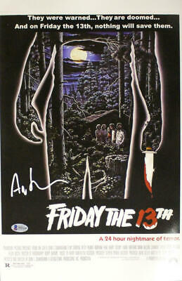 Ari Lehman Autographed Friday The 13th 11x17 Photo Movie Poster BAS 23750
