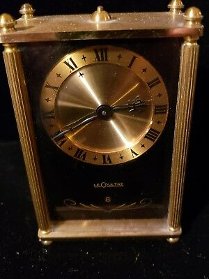 LeCoultre 8 Day Roman Brass Music Alarm Clock Classic Vintage Swiss Made