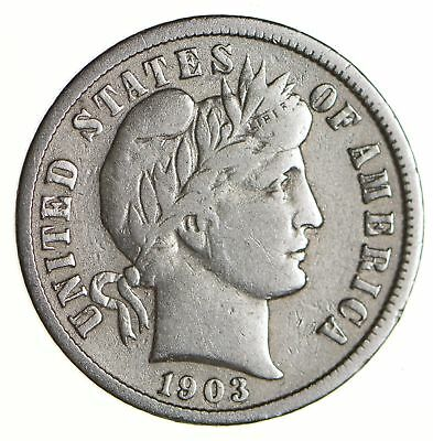 10c - Choice - 1903 - Barber Dime - Look at the Detail! *600