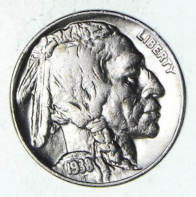 LAST Year 1938-D Buffalo Nickel - Unchecked for varieties - Tough *812