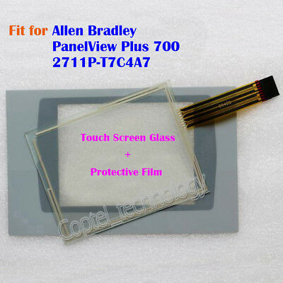 for Allen Bradley PanelView Plus 700 2711P-T7C4A7 Touch Screen Glass + Film