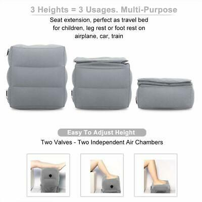 Soft Inflatable Travel Footrest Adjustable Height-Leg Rest Relax Airplane Pillow