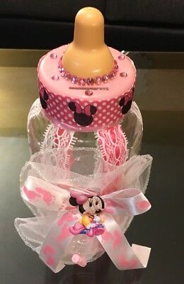 It's A Girl Minnie Mouse Baby Shower Giant Baby Bottle Centerpiece Deco🍼🎀