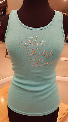 """The Big Day"" Tank Top (Blue/Silver, Size M)"