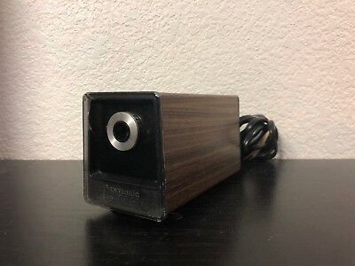 Panasonic Auto Stop Model KP-77 Electric Pencil Sharpener Wood Grain TESTED