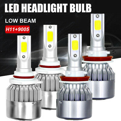 4X H11 9005/HB3 Car LED Headlights 2800W 420000LM Hi/Lo Beam Combo Kit 6000K CA