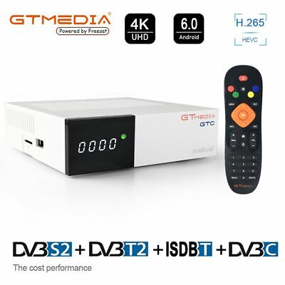 GTC 2+16G S905D 4K/3D/H.265 Android 6.0 smart TV BOX DVB-S2+T2+Cable WIFI 2.4G