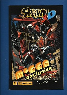 Spawn 3-D #1 Ultra Rare MOCCA exclusive Signed Todd McFarlane GLASSES INCLUDED