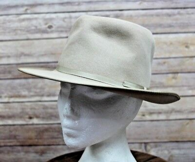 "Vintage Stevens ""The Deluxe"" Western Style Felt  Dress Hat Fedora 6 3/4"