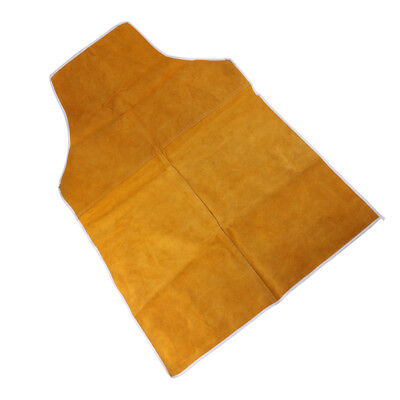 Yellow Welding Protective Apron Apparel Heat Insulation Safety Leather 90cm