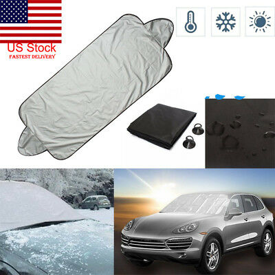 US Freedom Full Protection Windshield Cover Car Sunshade Anti-snow Dust Winter