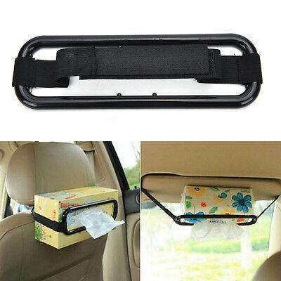 Car Sun Visor Tissue Paper Box Holder Auto Seat Back Accessories Clip Bracket FB