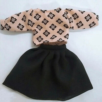 Fashion Dot Black Clothes For Doll Clothes Outfits Suits Coat+Pants Or Skirt