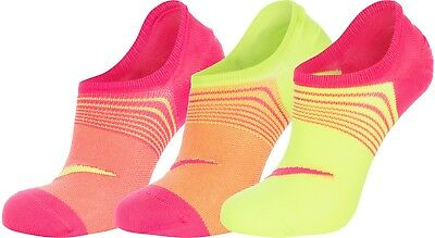 3 PACK NIKE Logo Ankle No Show Invisible Sports Liner Socks 3Pairs SX5277 Womens