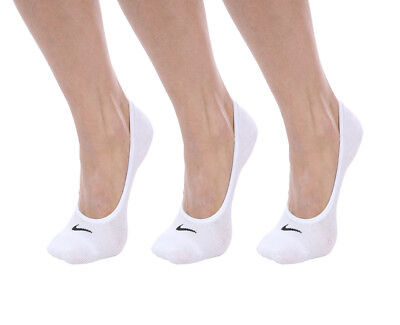 3 PACK NIKE Logo Ankle No Show Invisible Sports Liner Socks Pairs SX4863 Women's