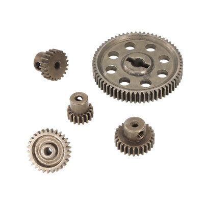 Steel Spur Diff Differential Main Gear 64T Motor Pinion Cogs for HSP Redcat