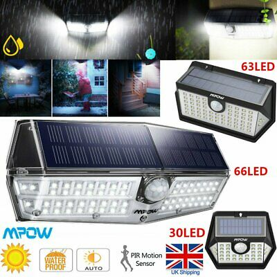 Mpow Outdoor LED Solar Powered Light Motion Sensor Bright Security Wall Lights