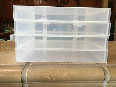VHS - VCR CASSETTE STORAGE CASE - Lot Of 4 CASES