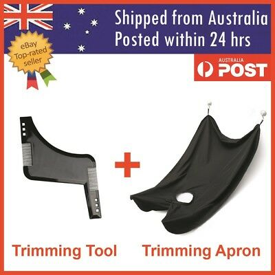 Beard Styling Shaping Tool & Beard Trimming Apron Shaving Cape Shave Cloth