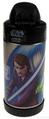 Thermos FUNtainer Star Wars Clone Wars Insulated Bottle 10 Oz Yoda ObiWan Anakin