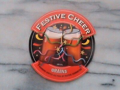 Brains Festive Cheer real ale beer pump clip sign christmas theme