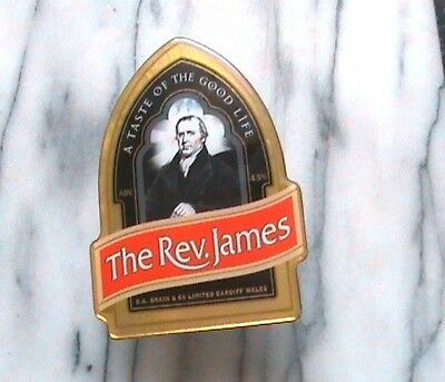 Brains The Rev James real ale beer pump clip sign plastic resin coated complete