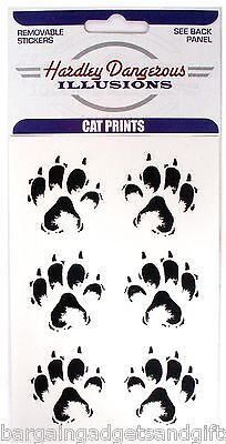 6 Cat Dog Animal Lovers Pet Paw Foot Print Car Stickers Girls Kids Funny Gift