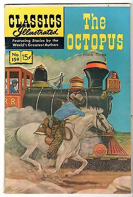 Classics Illustrated #159 The Octopus, Edition 1, HRN #159, Fine Condition