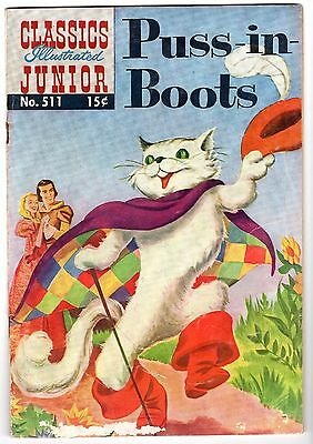 Classics Illustrated Junior #511 Featuring Puss-N-Boots - HRN #526, VG - Fine