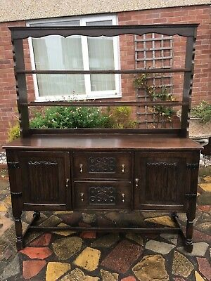 oak kitchen dresser with cupboard and drawers under #372
