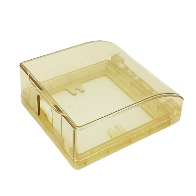 86*86mm Gold Clear Switch Socket Waterproof Cover Box For Socket Panel Mounting