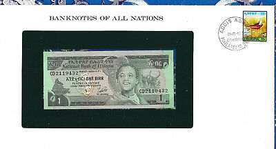 Banknotes of All Nations Ethiopia 1976 1 Birr P30b UNC Birthday note CD 2119432