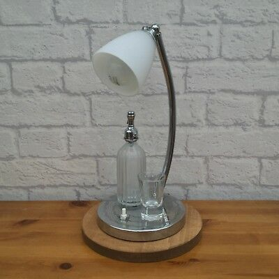 Quirky Upcycled Vintage Chrome Lamp With Miniature Soda Syphon