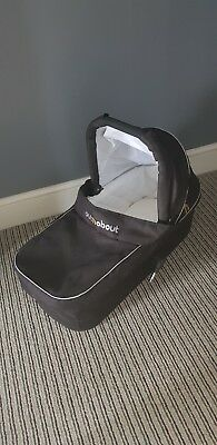 Out N About Nipper 360 Single Carry Cot In Black with Adaptors