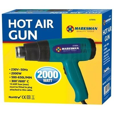 Marksman 2000W Hot Air Heat Gun Dryer Wall Paper Paint Stripper DIY Wrap Tint