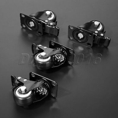 1.5 inch Shopping Carts Hand Trolley Plate Caster Wheel with Brake Replacement