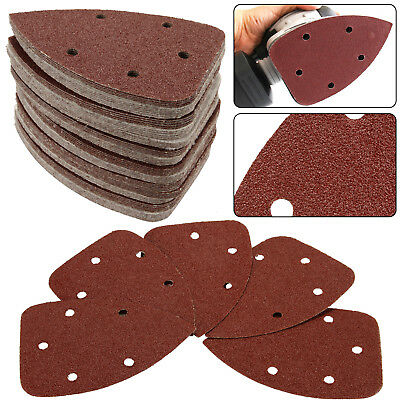 50 PCS 400 GRIT WELIBA Hook and Loop Mouse Sander Pads Sanding Sheets Sandpaper